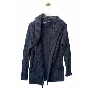 vince chunky knit cardigan hooded sweater wool